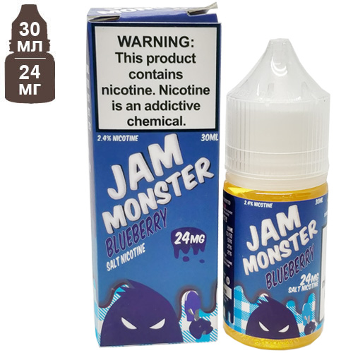 Жидкость Jam Monster Blueberry Salt 30мл 24мг