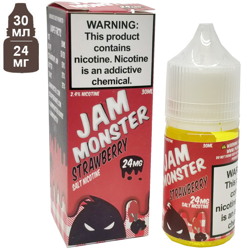 Жидкость Jam Monster Strawberry Salt 30мл 24мг